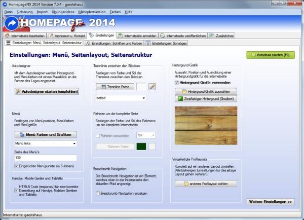 Software zum eigene Homepage erstellen